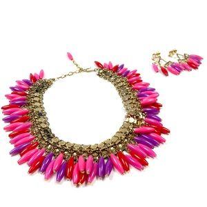 Jewelry - Vintage Chocker & Clip on Earrings
